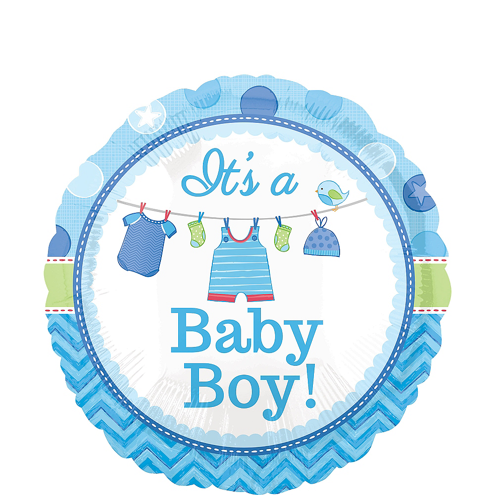 Boy Baby Shower Balloon - Shower with Love, 17in Image #1