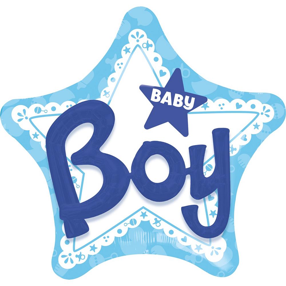Boy Baby Shower Balloon - 3D Celebrate 32in Image #1