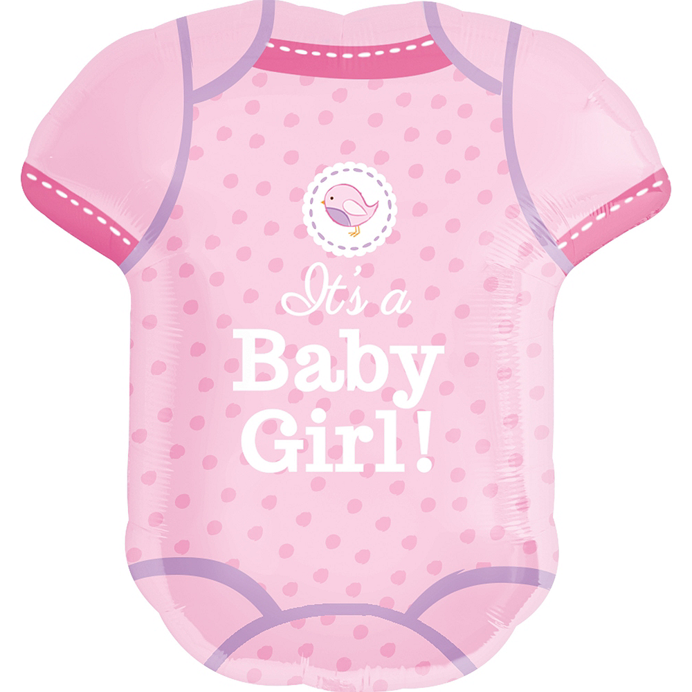 Girl Baby Shower Balloon - Shower With Love Bodysuit 22in x 24in Image #1