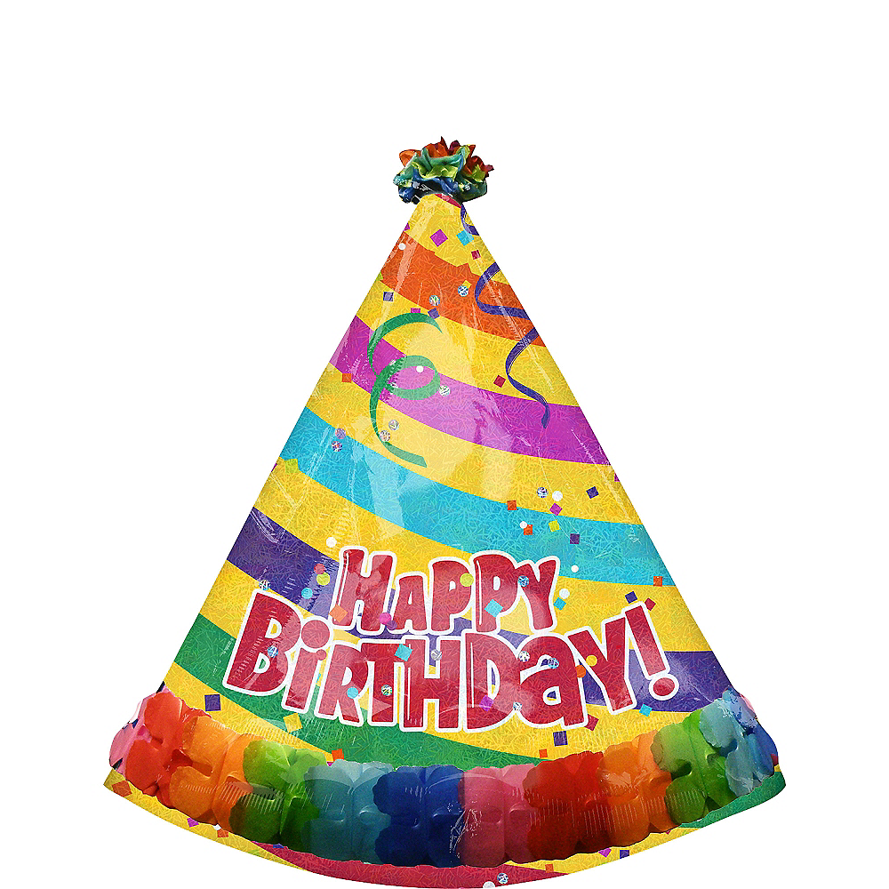 Happy Birthday Balloon - Prismatic Party Hat 29in x 35in Image #1