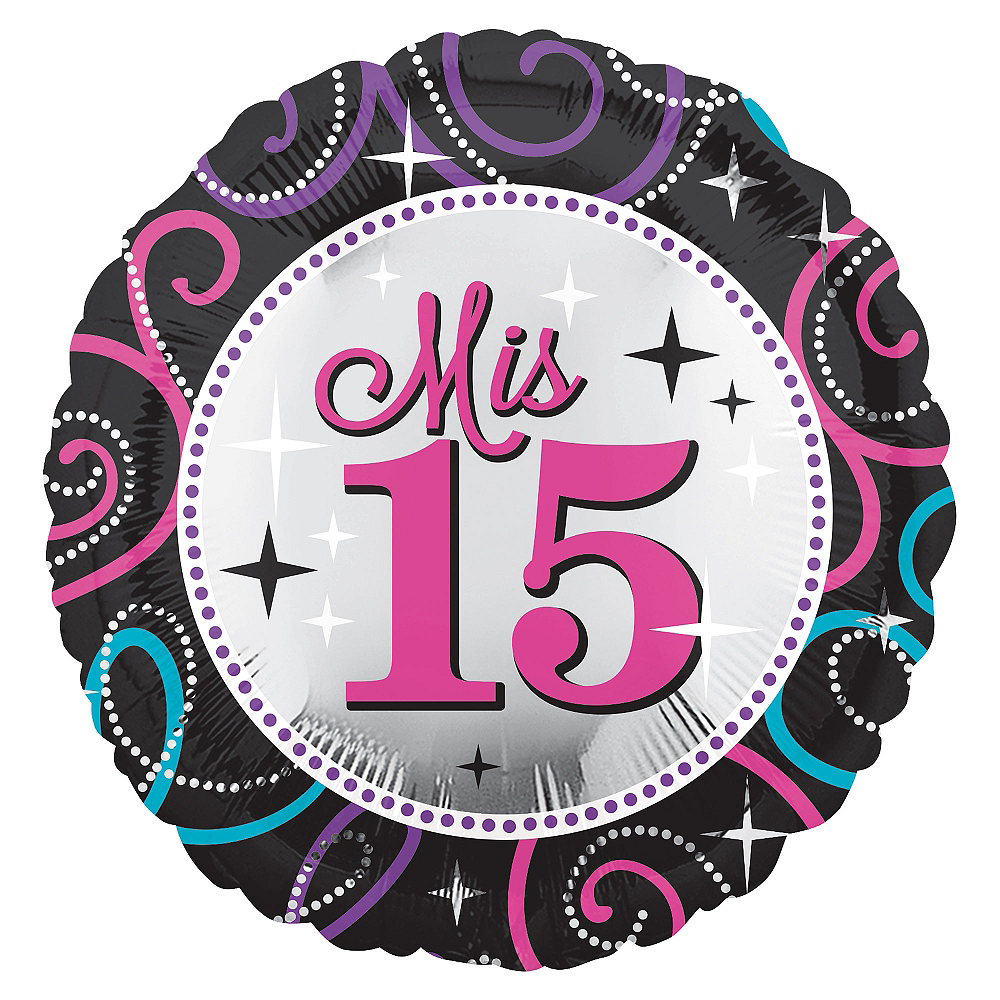 Mis Quince Quinceanera Balloon, 17in Image #1