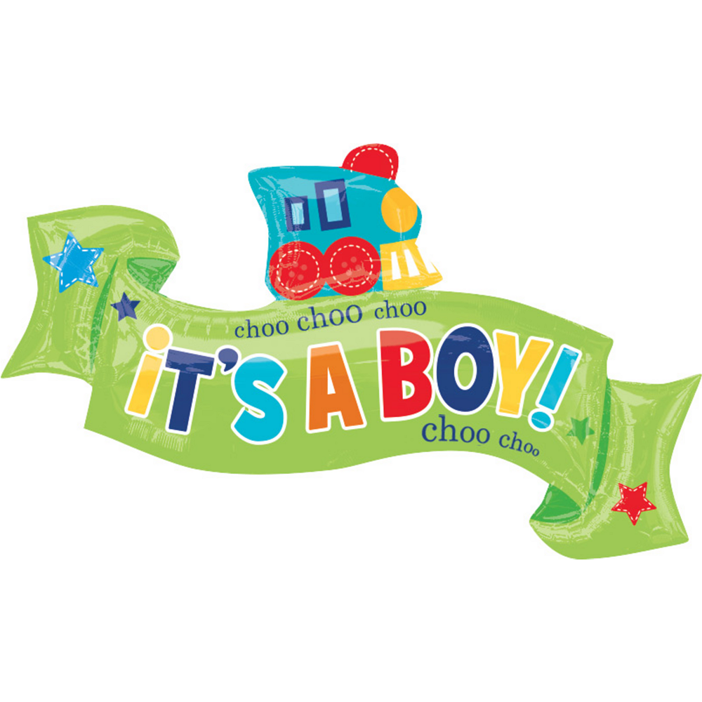 Boy Welcome Baby Balloon - Giant Welcome Little One 40in x 22in Image #1