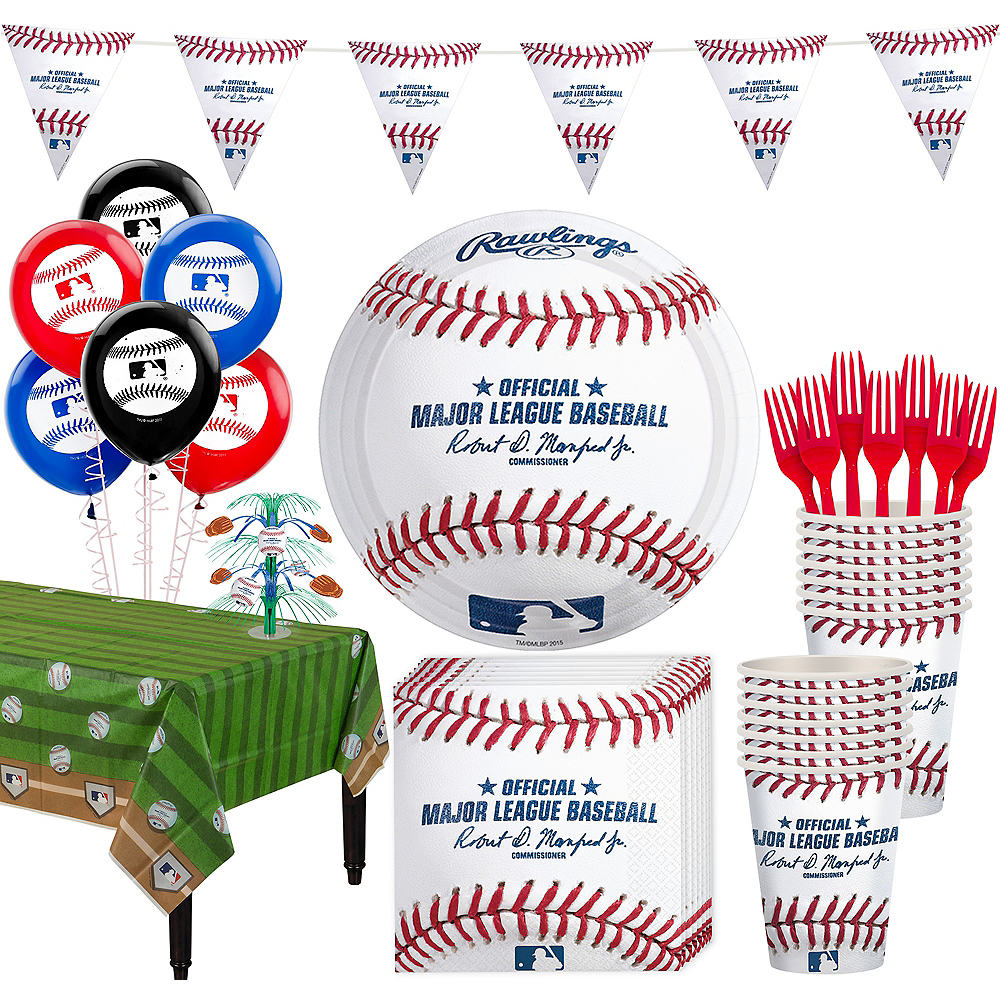 Super Rawlings Baseball Party Kit for 16 Guests Image #1