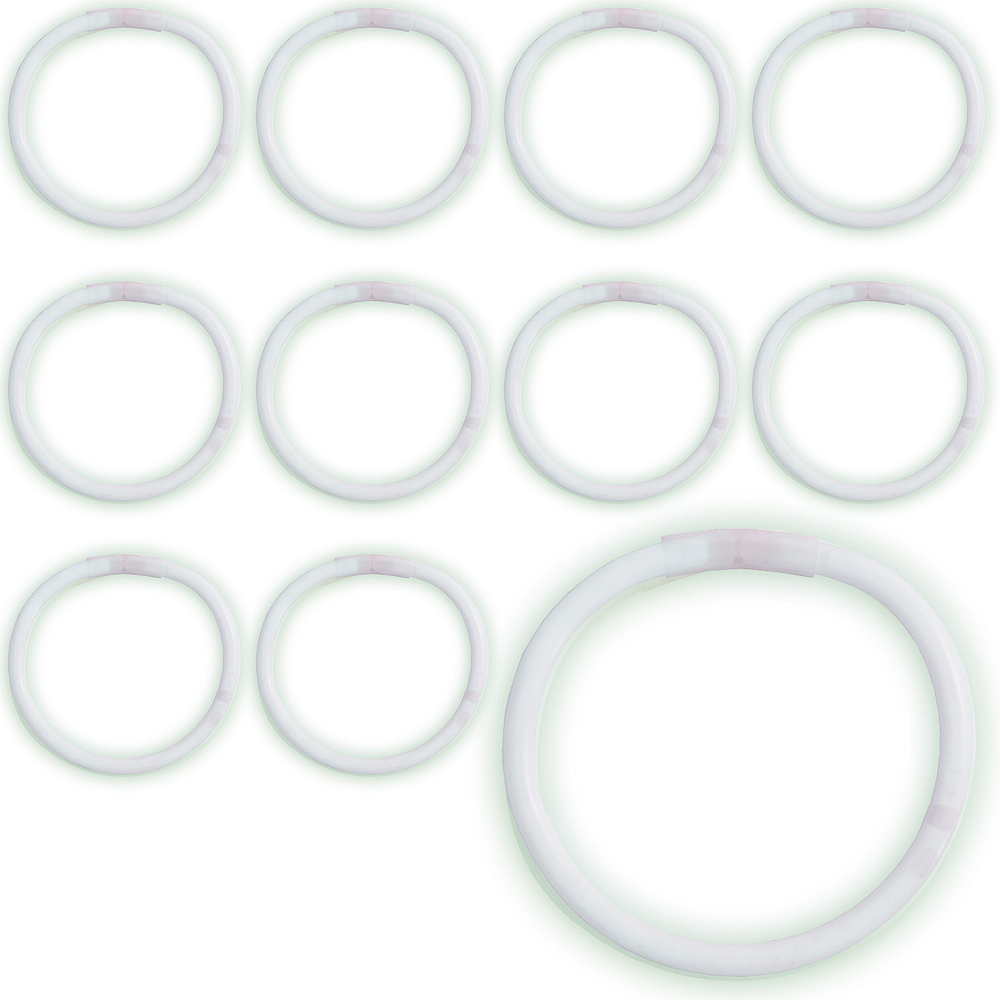 Nav Item for White Glow Bracelets 12ct Image #1