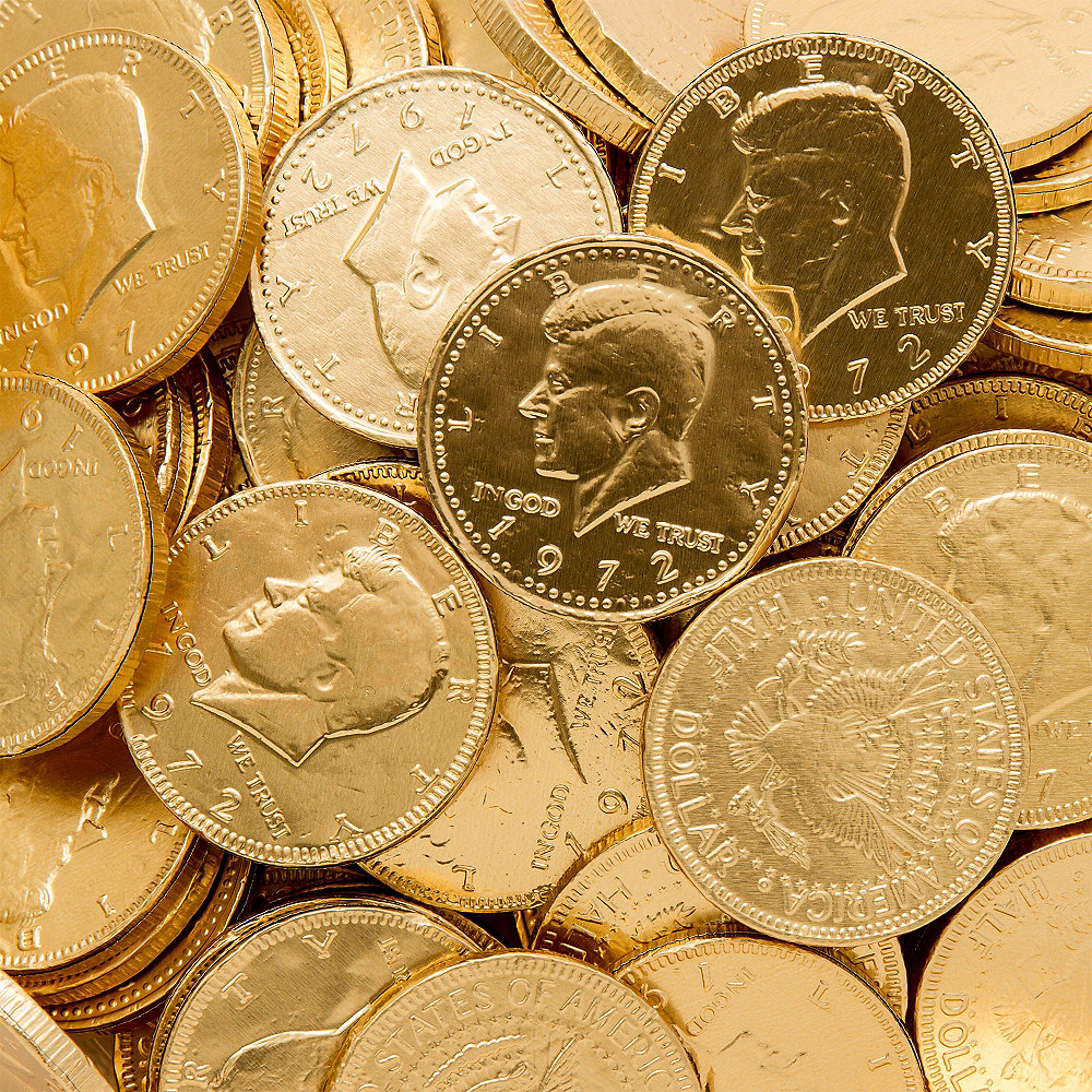 Gold Chocolate Coins 72pc | Party City
