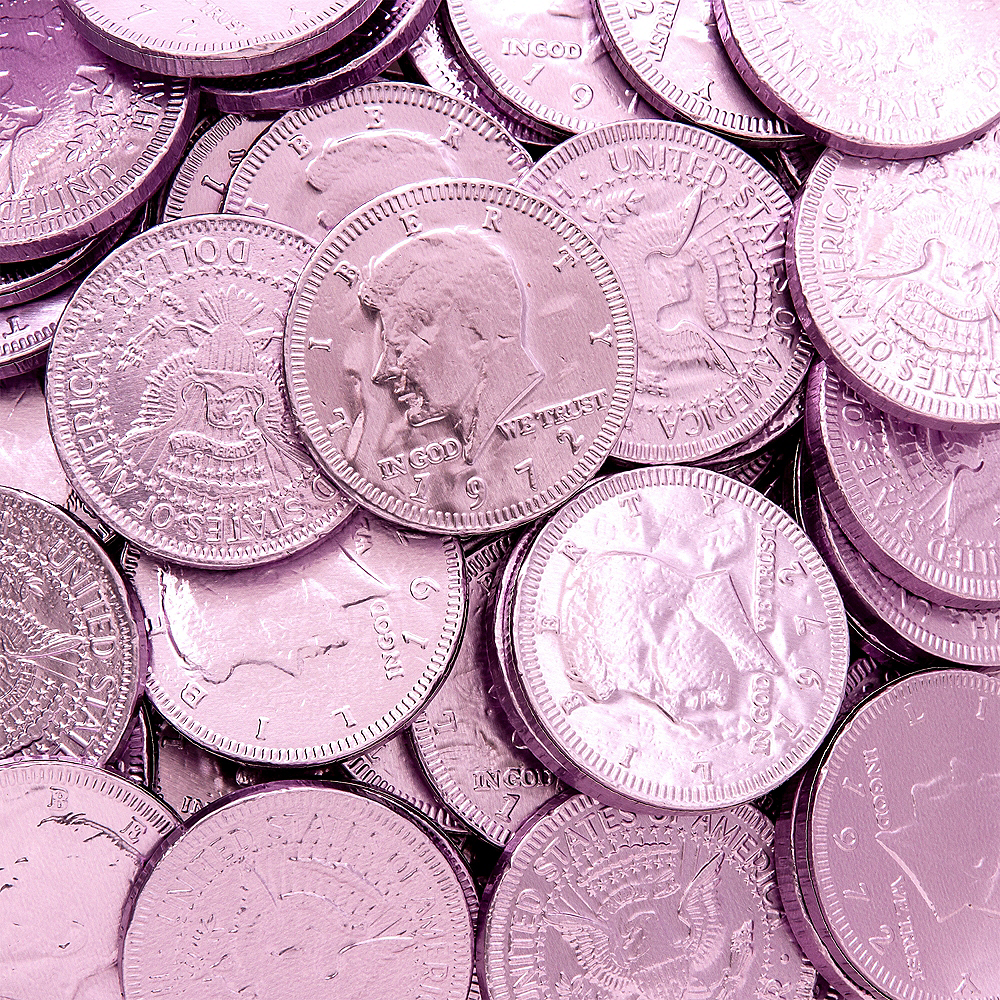 Lavender Chocolate Coins 72pc Image #2