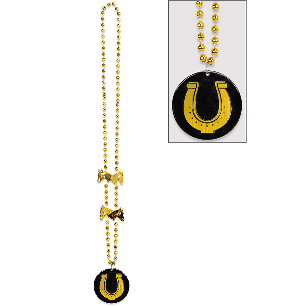 Horseshoe Pendant Necklace - Horse Racing Image #1