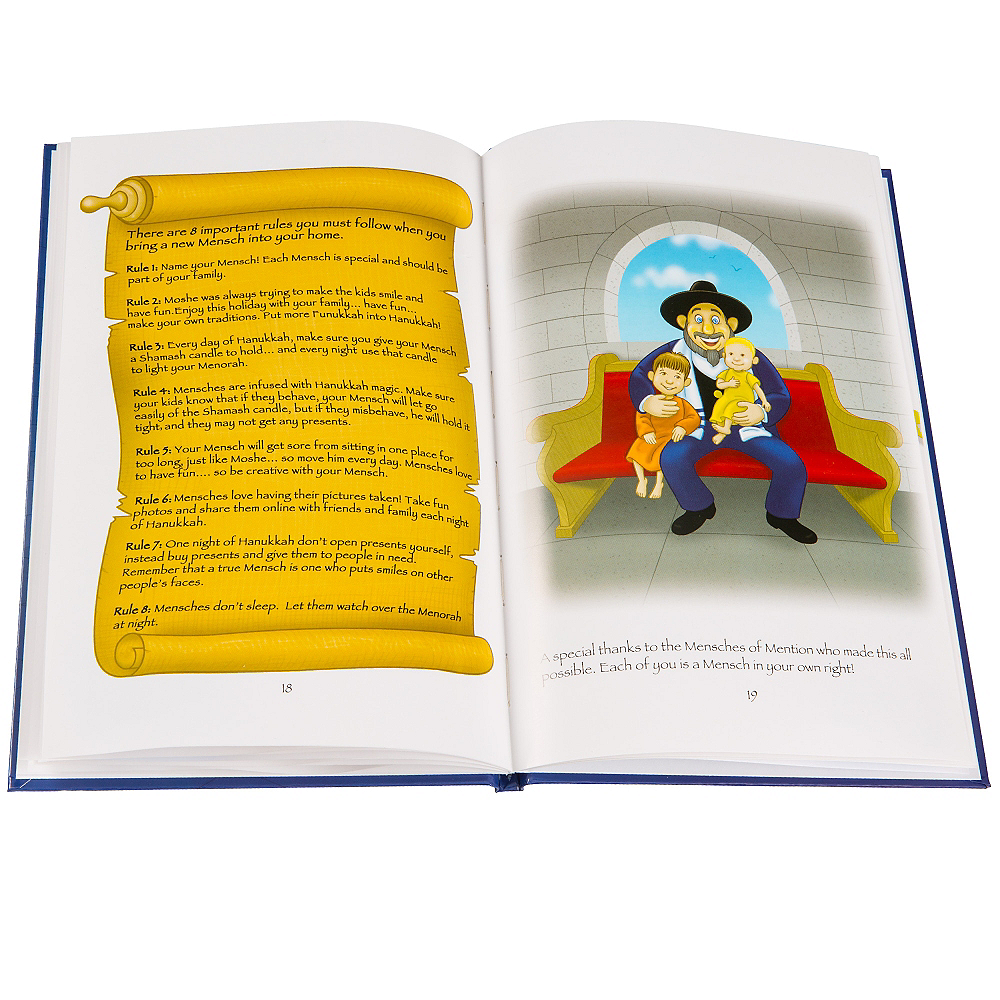 The Mensch on a Bench Doll with Storybook Image #2