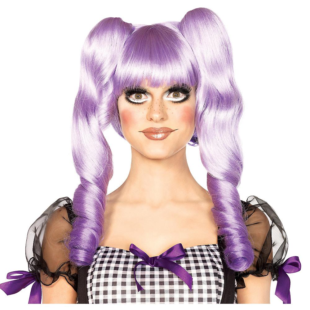 3-in-1 Dolly Bob Purple Doll Wig Image #1