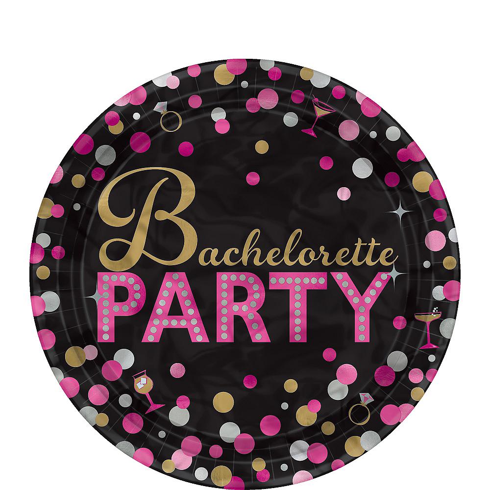 Metallic Bachelorette Party Dessert Plates 8ct - Sassy Bride Image #1