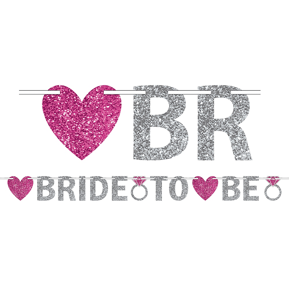 Glitter Bride to Be Letter Banner Image #1
