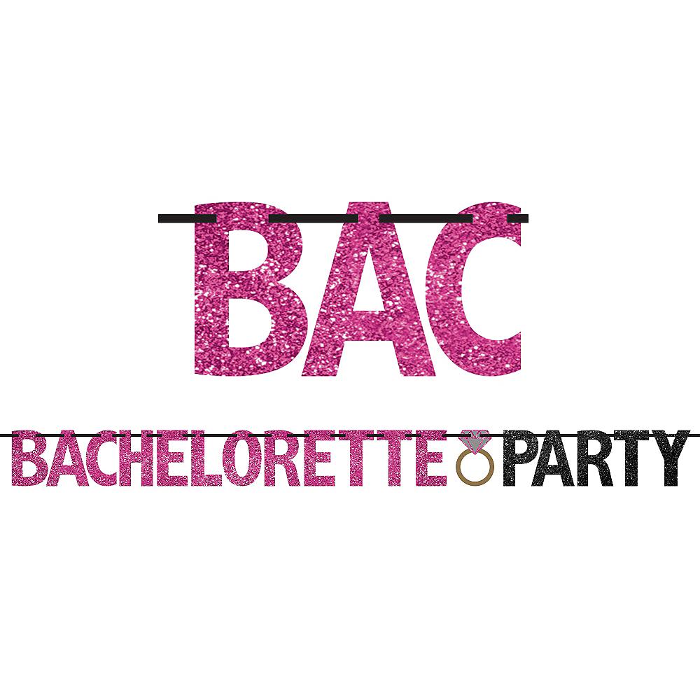 Glitter Bachelorette Party Letter Banner Image #1