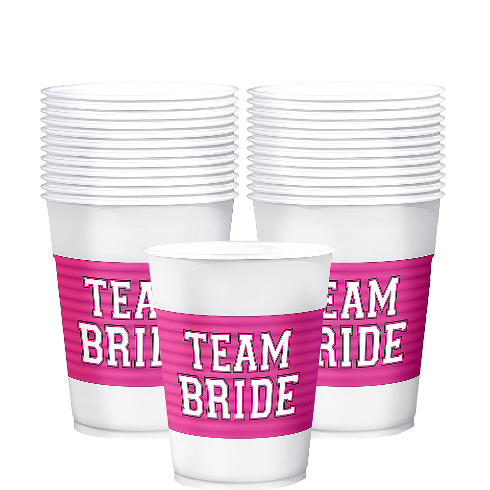 Nav Item for Team Bride Plastic Cups 25ct Image #1