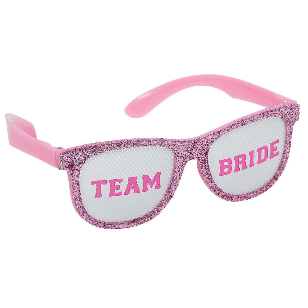 d92057f449 ... Glitter Team Bride Glasses 6ct Image  2 ...