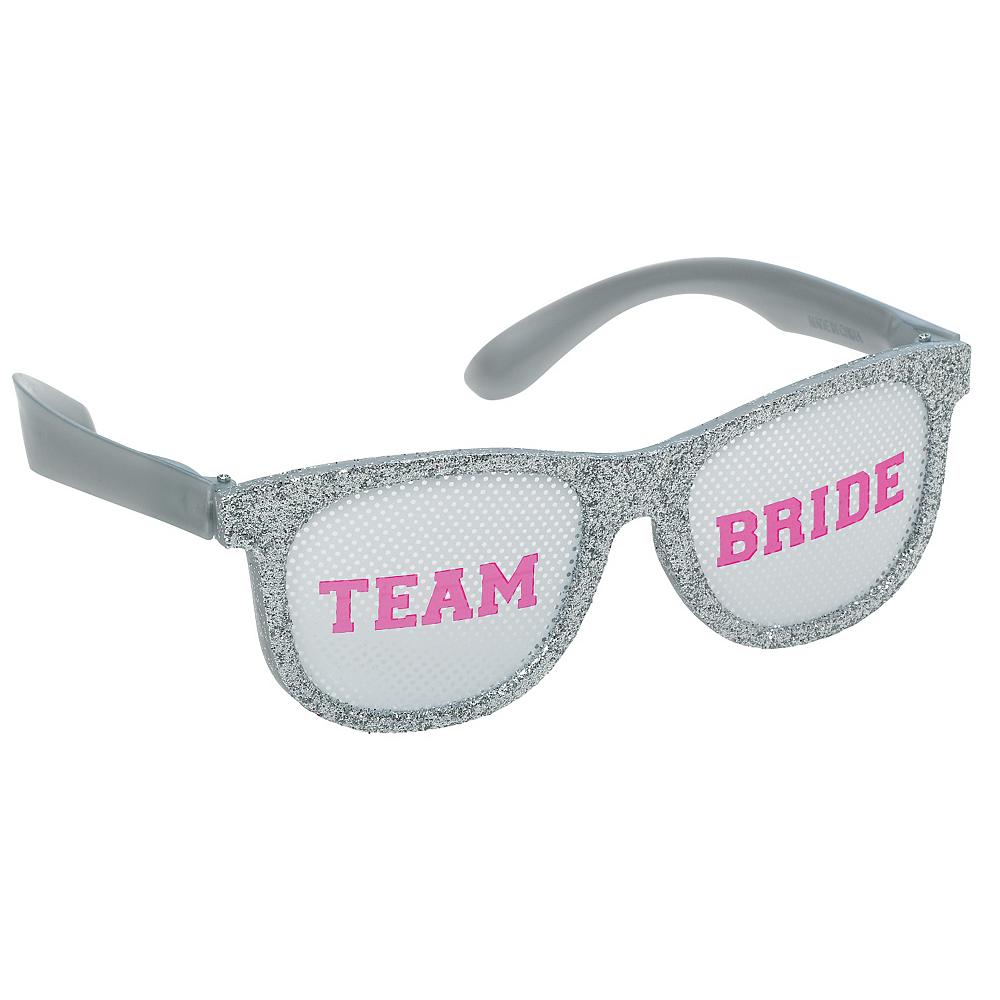 Glitter Team Bride Glasses 6ct Image #3