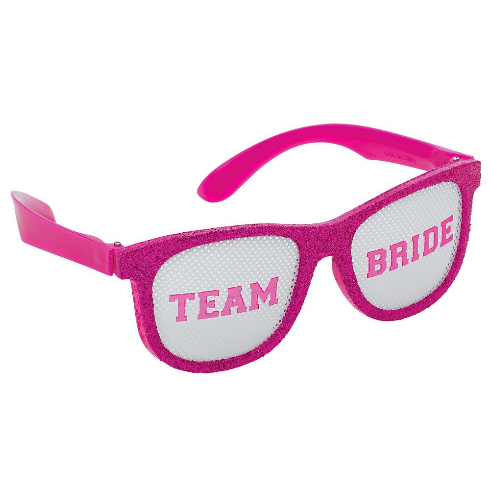 Glitter Team Bride Glasses 6ct Image #4