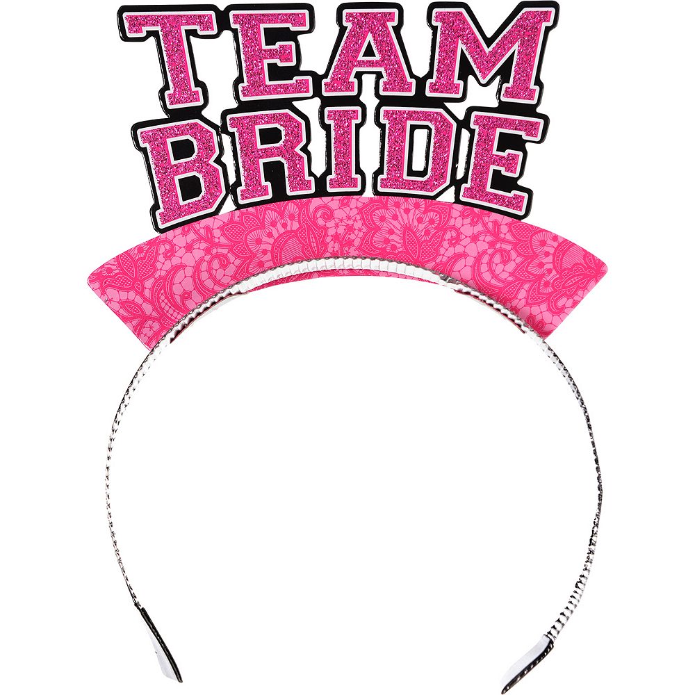 Glitter Team Bride Tiaras 6ct Image #1