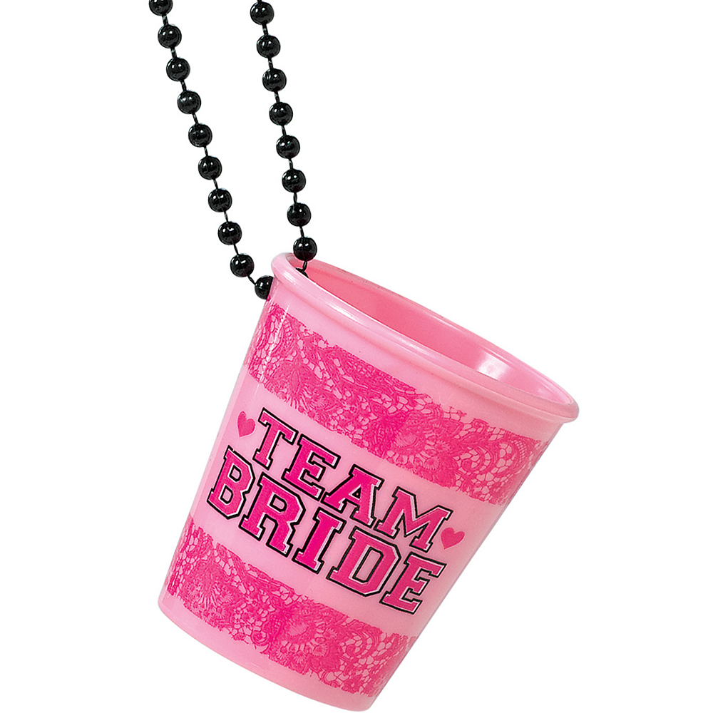Nav Item for Team Bride Shot Glass Necklaces 6ct Image #1