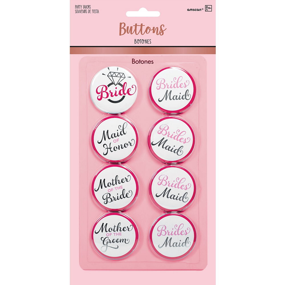 Nav Item for Bridal Party Buttons 8ct - Classy Bride Image #2