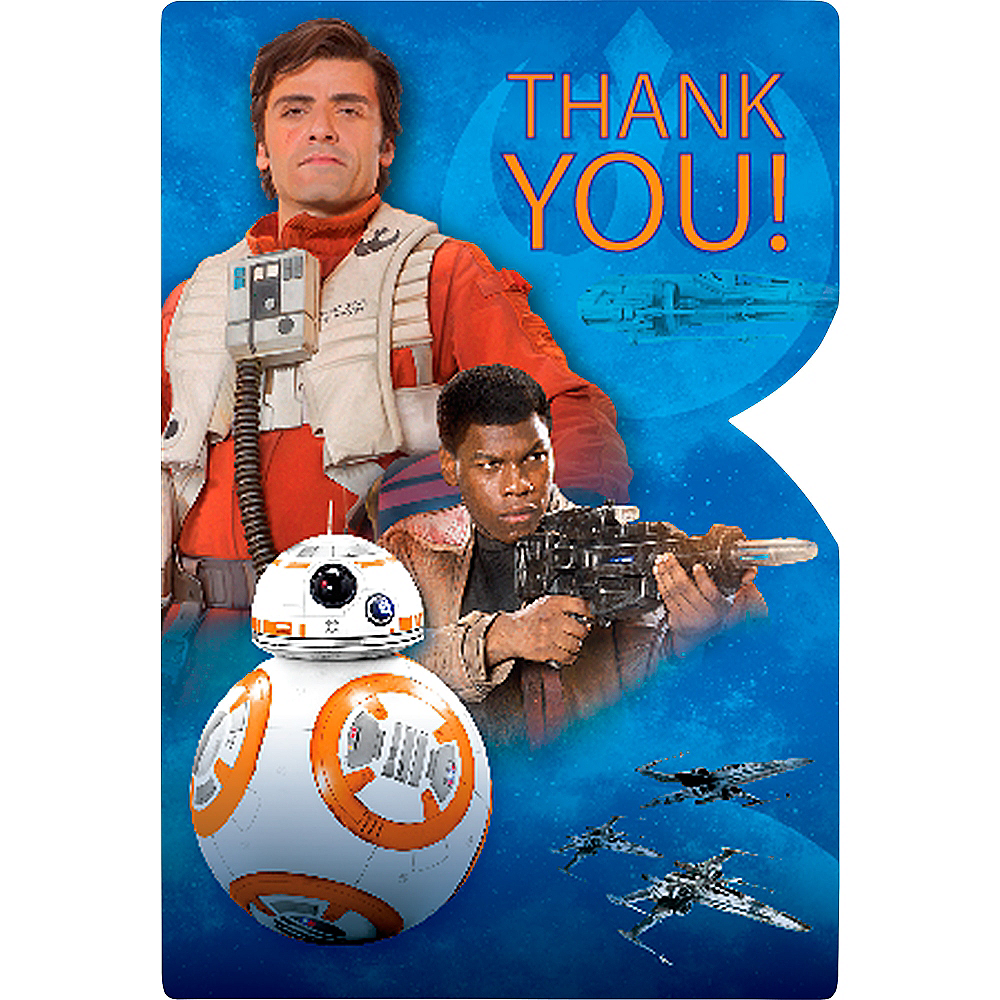 Star Wars 7 The Force Awakens Thank You Notes 8ct Image #1