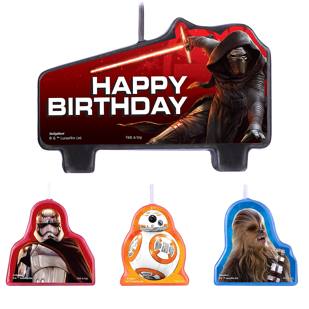 Star Wars 7 The Force Awakens Birthday Candles 4ct Image #1