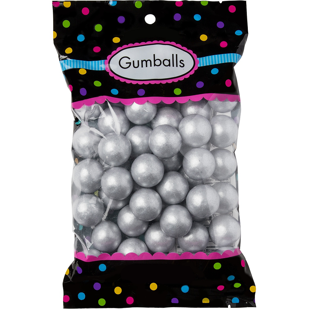Silver Gumballs 48pc Image #1