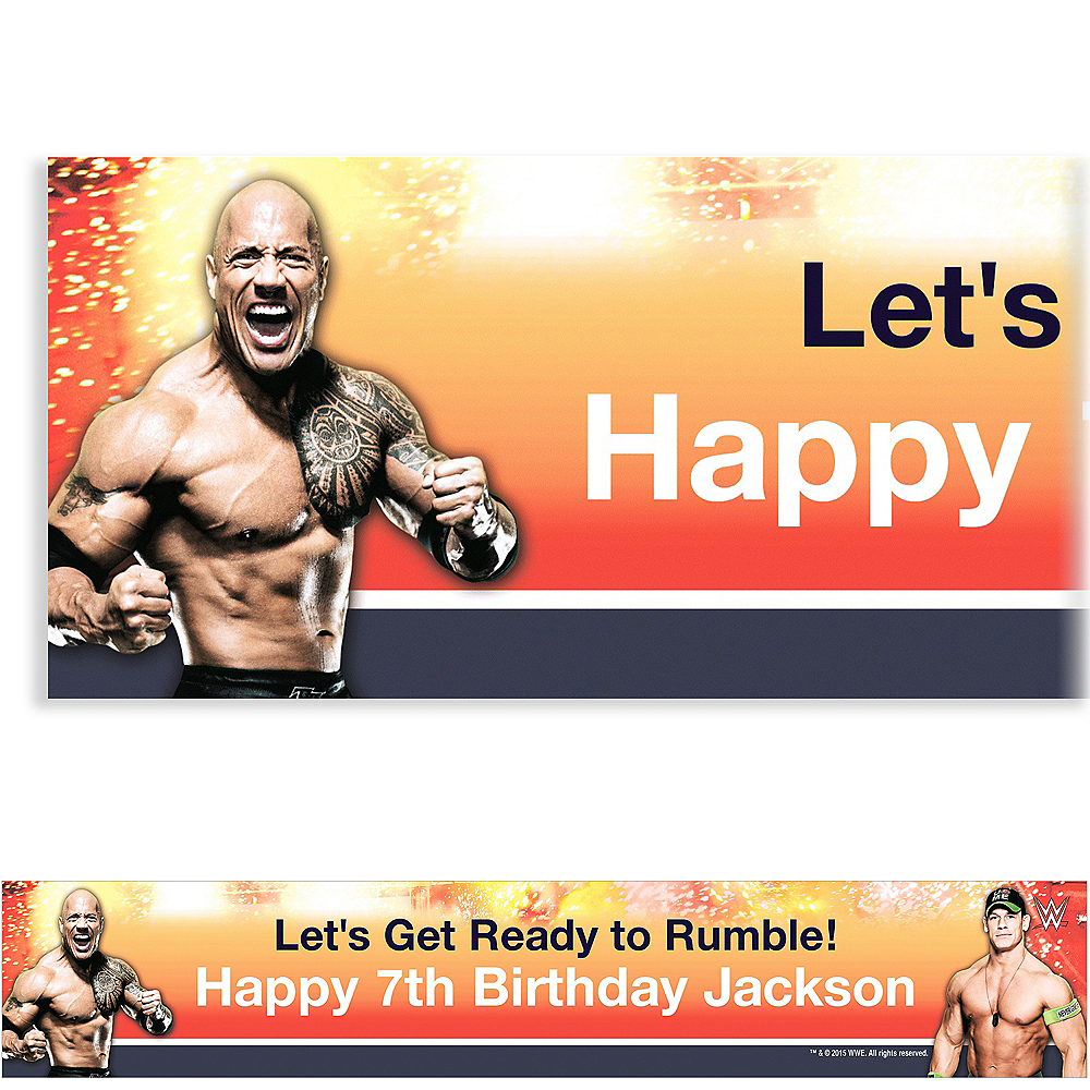 Custom WWE Banner 6ft Image #1