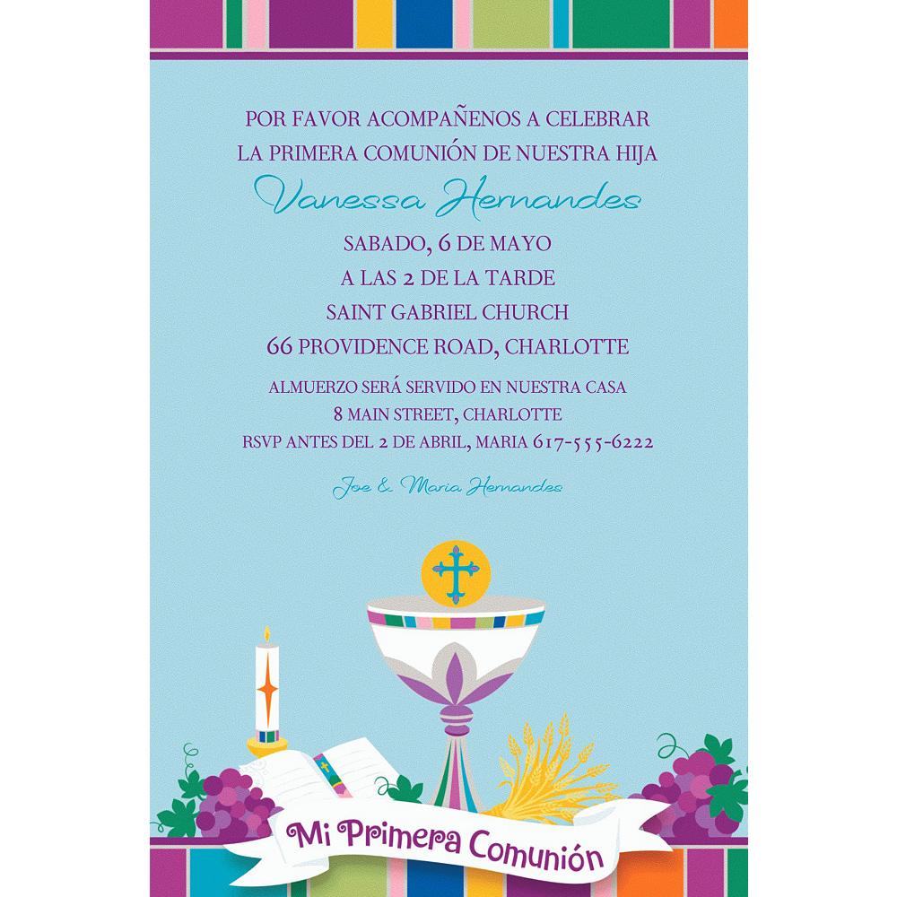 Custom Mi Primera Comunion Invitations Image #1