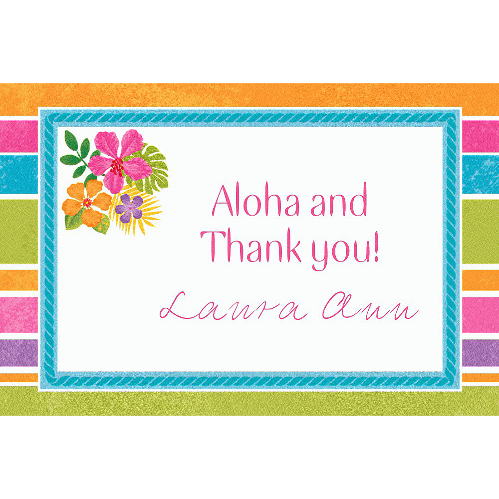 Custom Sophisticated Hibiscus Thank You Notes Image #1