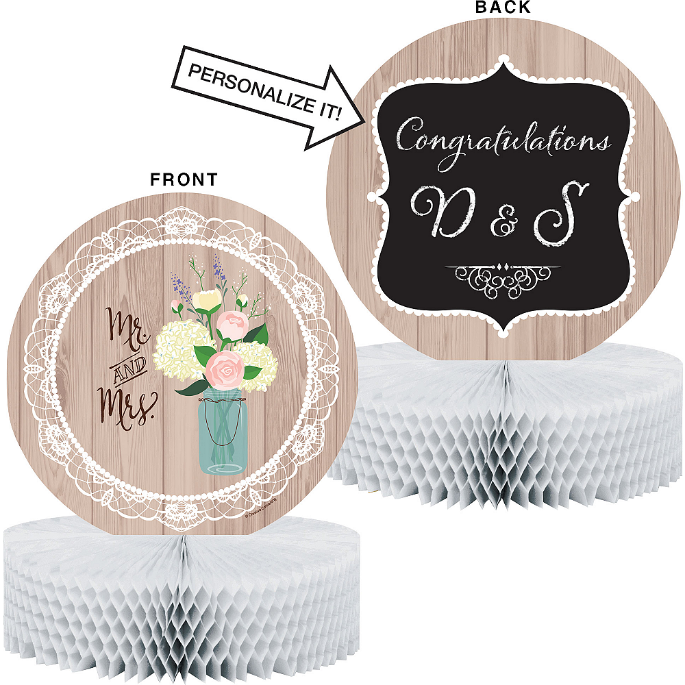 Rustic Wedding Honeycomb Centerpiece Image #1