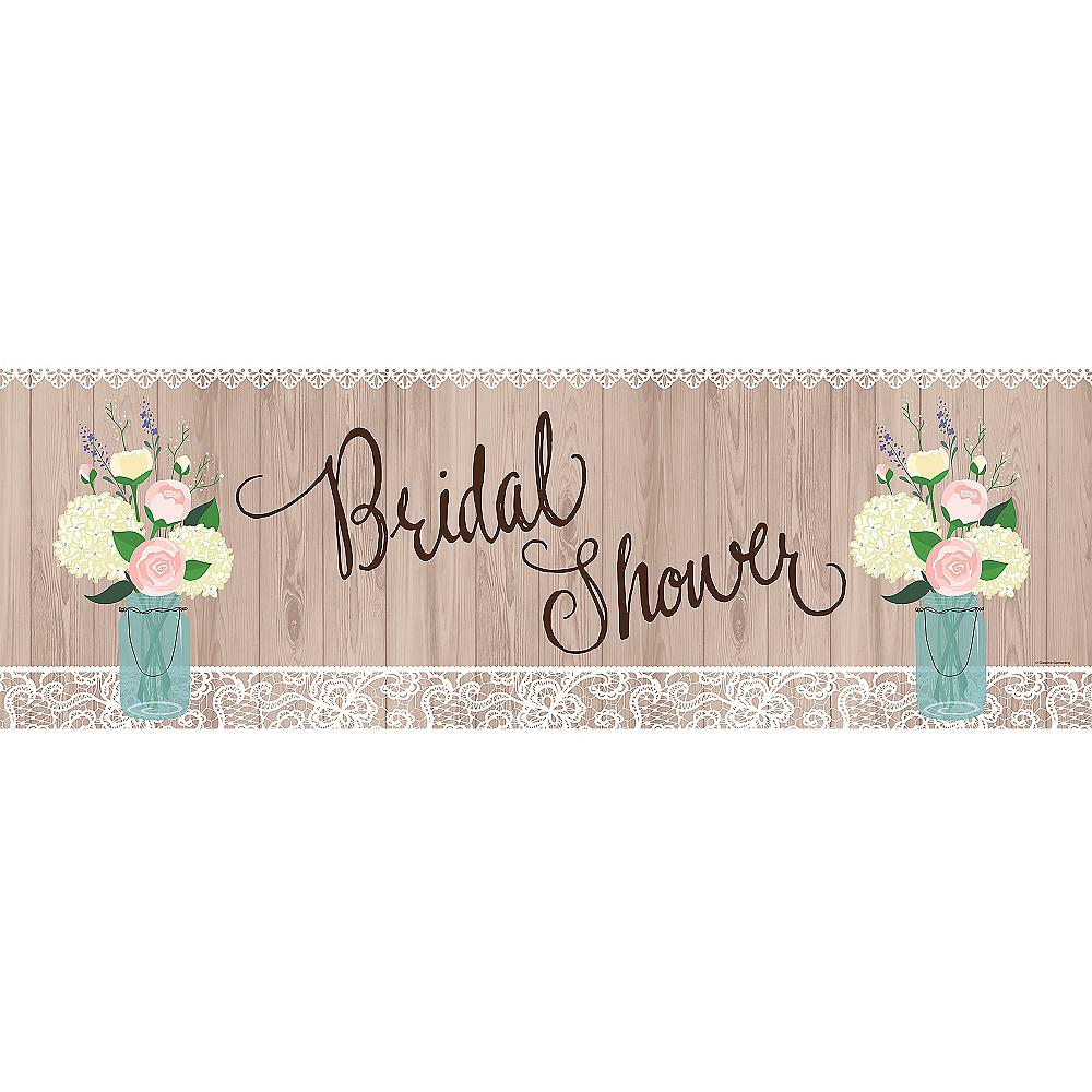 Giant Rustic Bridal Shower Banner Image #1