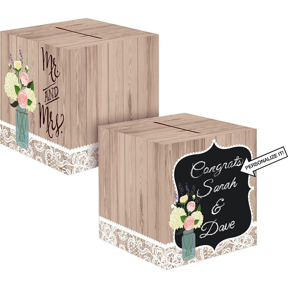 Rustic Wedding Card Holder Box Image #1