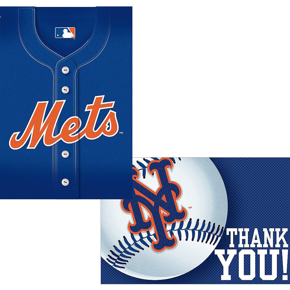 New York Mets Invitations & Thank You Notes for 8 Image #1