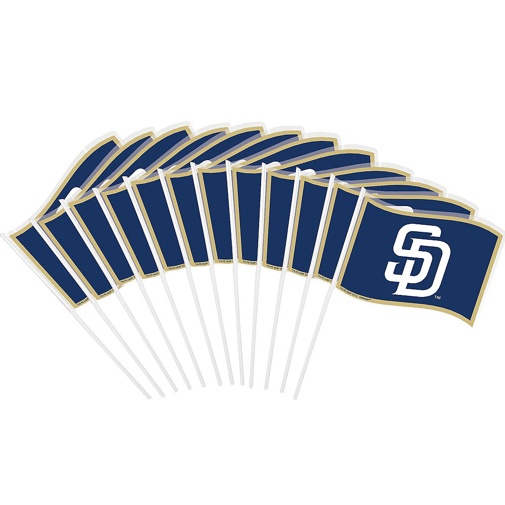 San Diego Padres Mini Flags 12ct Image #1
