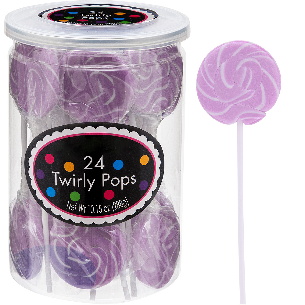 Lavender Swirly Lollipops 24pc Image #1