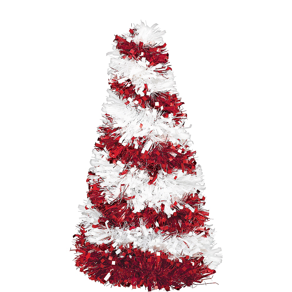 low priced 14394 ad604 3D Candy Cane Tinsel Christmas Tree