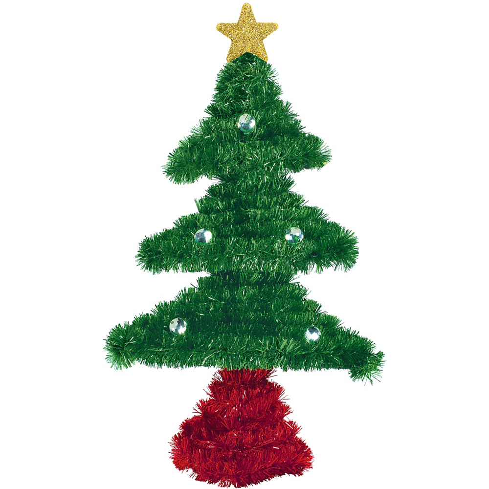 tinsel christmas tree image 1