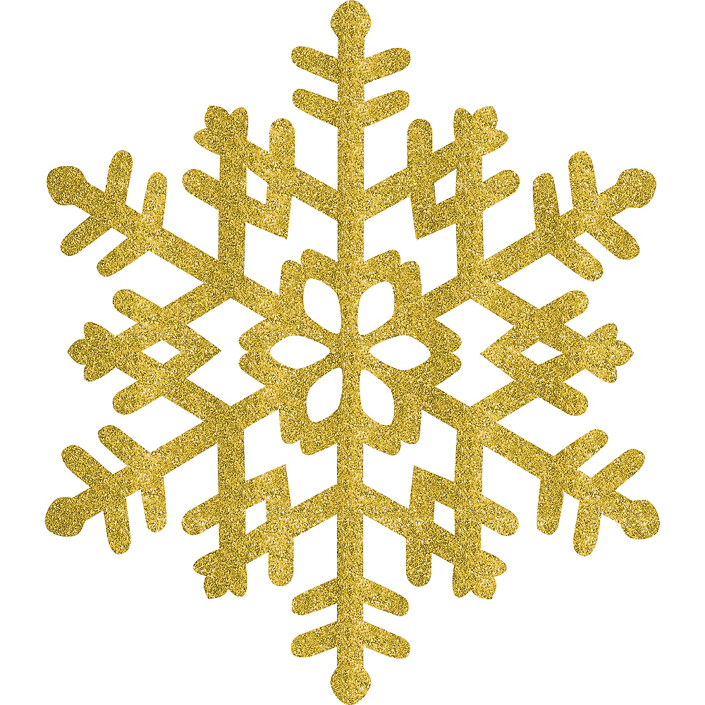 Nav Item for Glitter Gold Snowflake Image #1