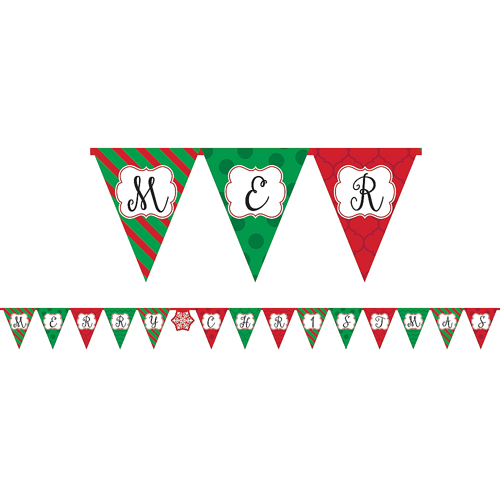 Merry Christmas Pennant Banner Image #1