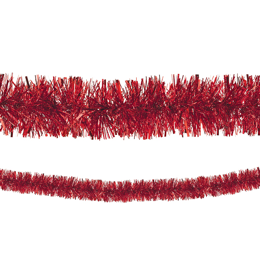 Red Boa Tinsel Garland Image #1