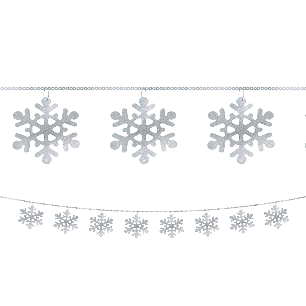 Snowflake String Garland 9ft | Party City