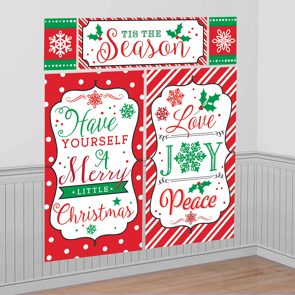 Christmas Scene Setters Party City Decorations: Modern Christmas Scene Setter 65in X 75in