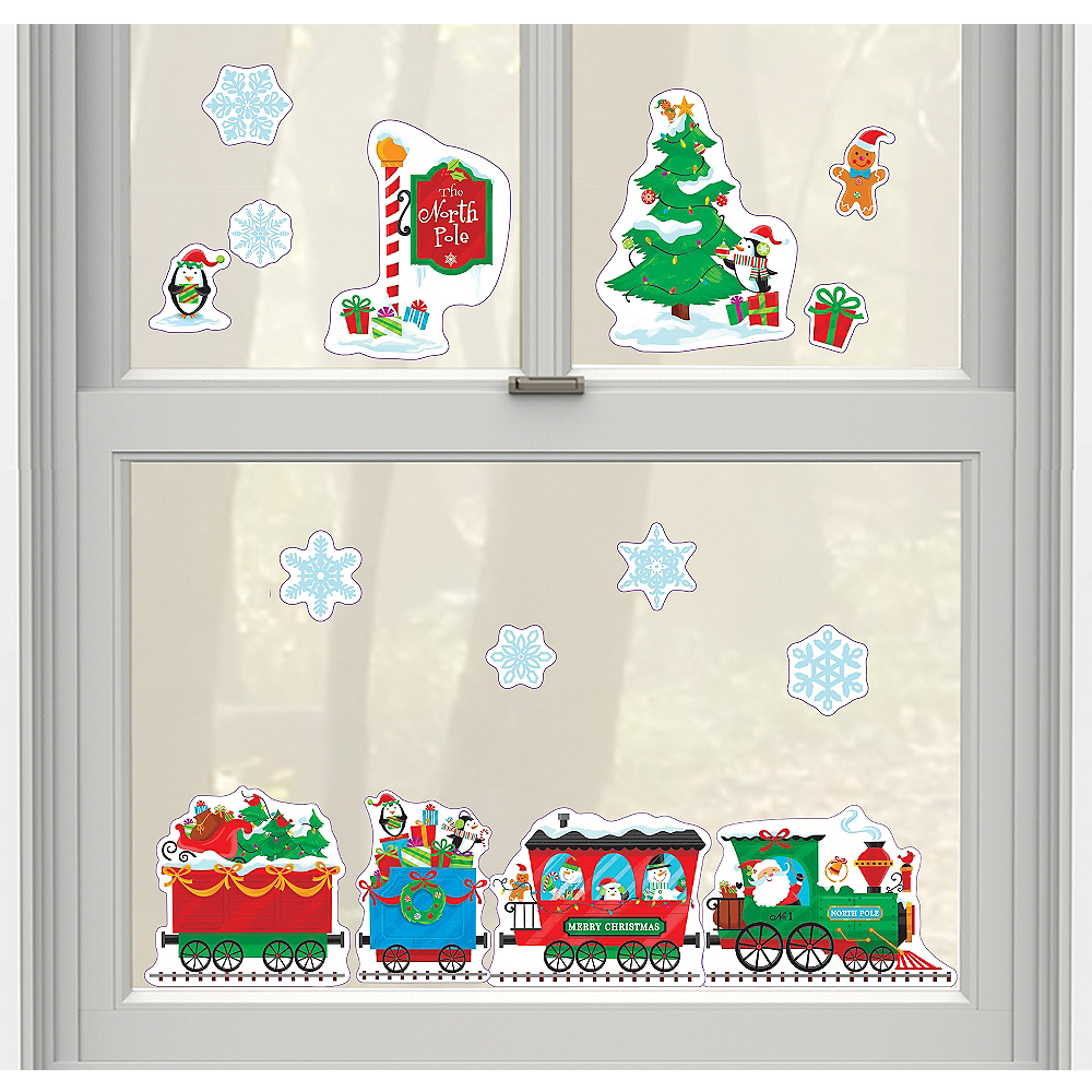 Christmas Train Cling Decals 15ct Image #1