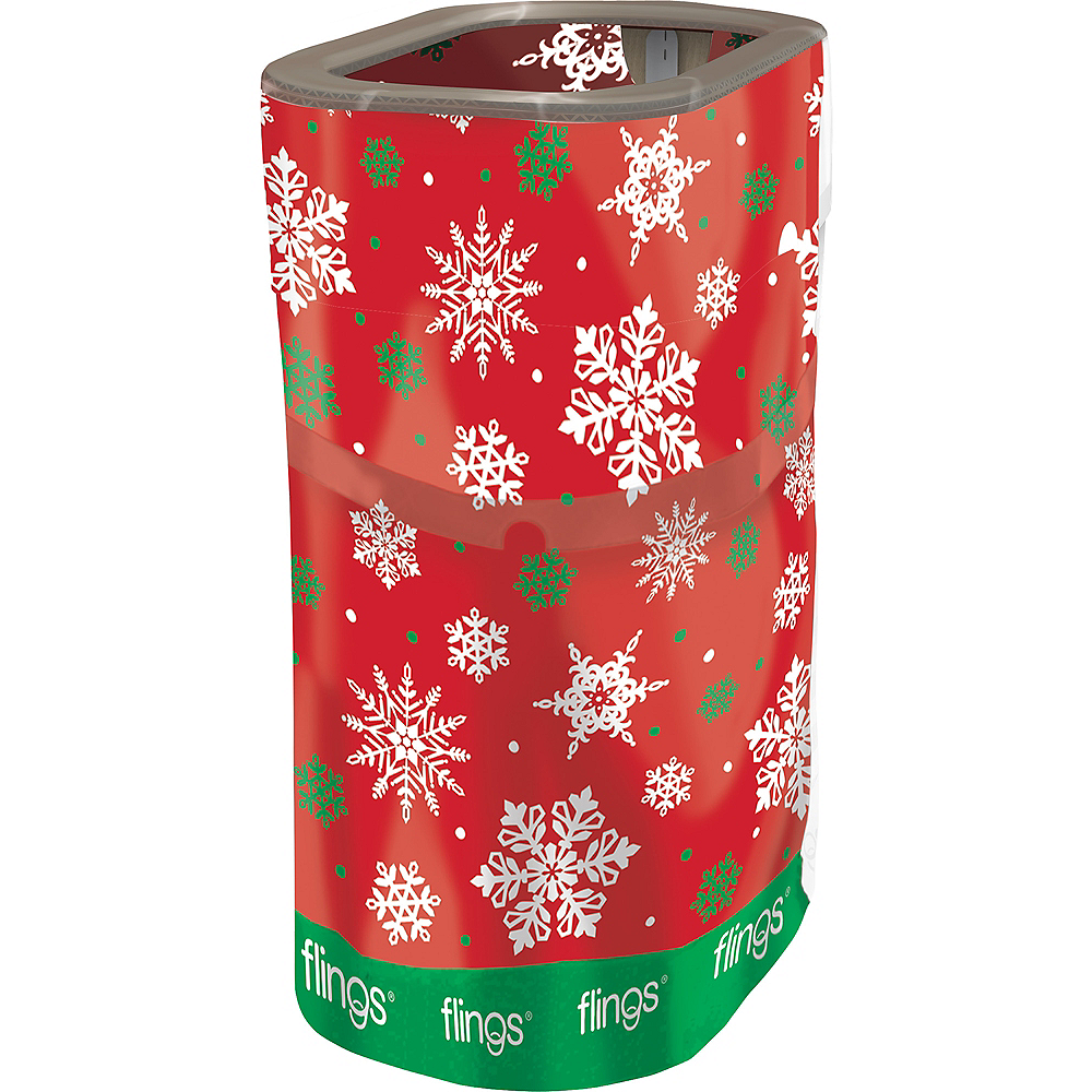 Snowflake Pop-Up Trash Bin Image #1