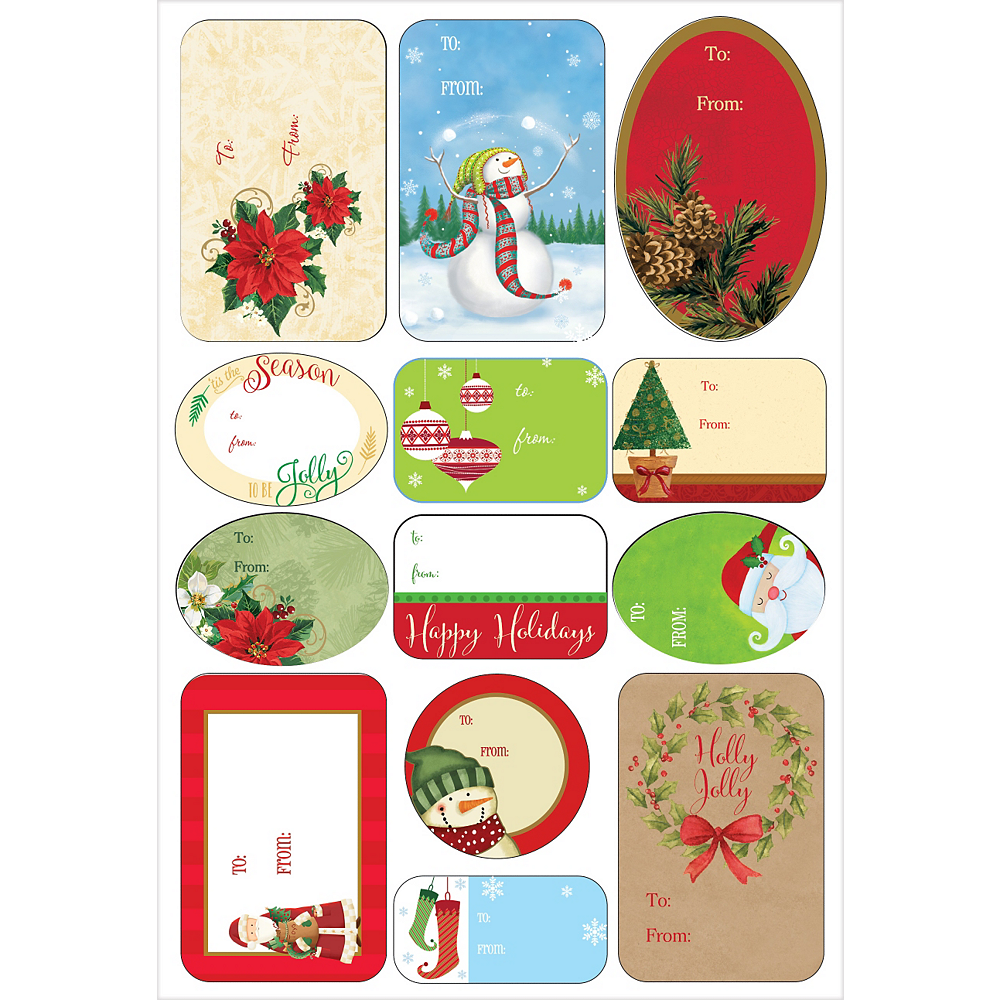 Traditional Christmas Adhesive Gift Tags 156ct Image #2