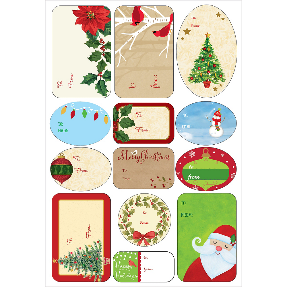 Traditional Christmas Adhesive Gift Tags 156ct Image #3