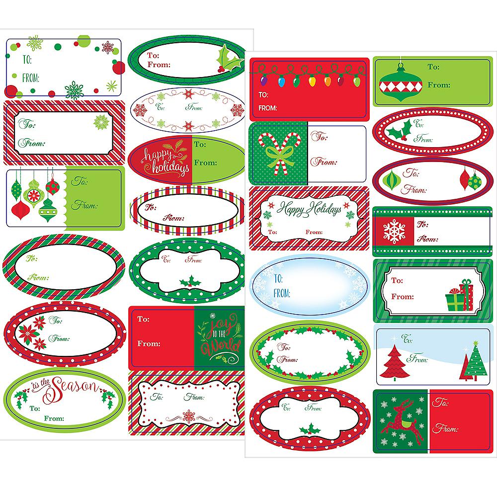 Winter Christmas Adhesive Gift Tags 156ct Image #1