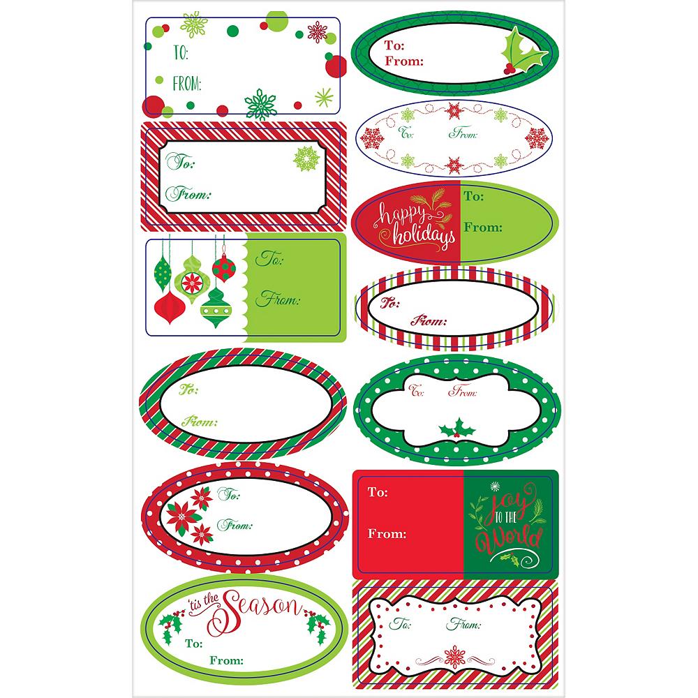 Winter Christmas Adhesive Gift Tags 156ct Image #2