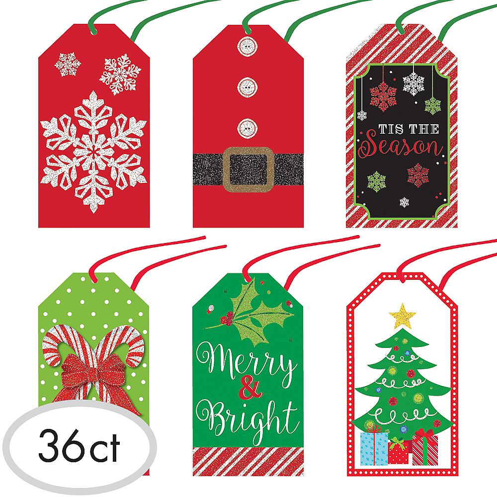 Christmas Gift Tag.Modern Christmas Gift Tags 36ct