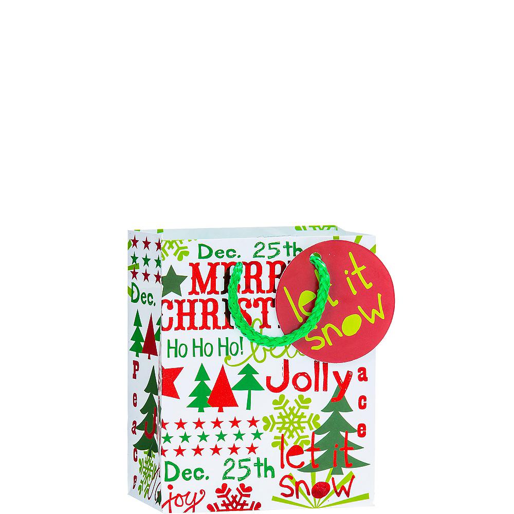 Metallic Let it Snow Christmas Gift Bag Image #1